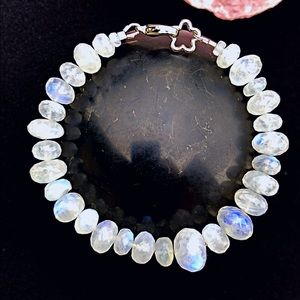 Jewelry - Genuine Rainbow Moonstone Bracelet!